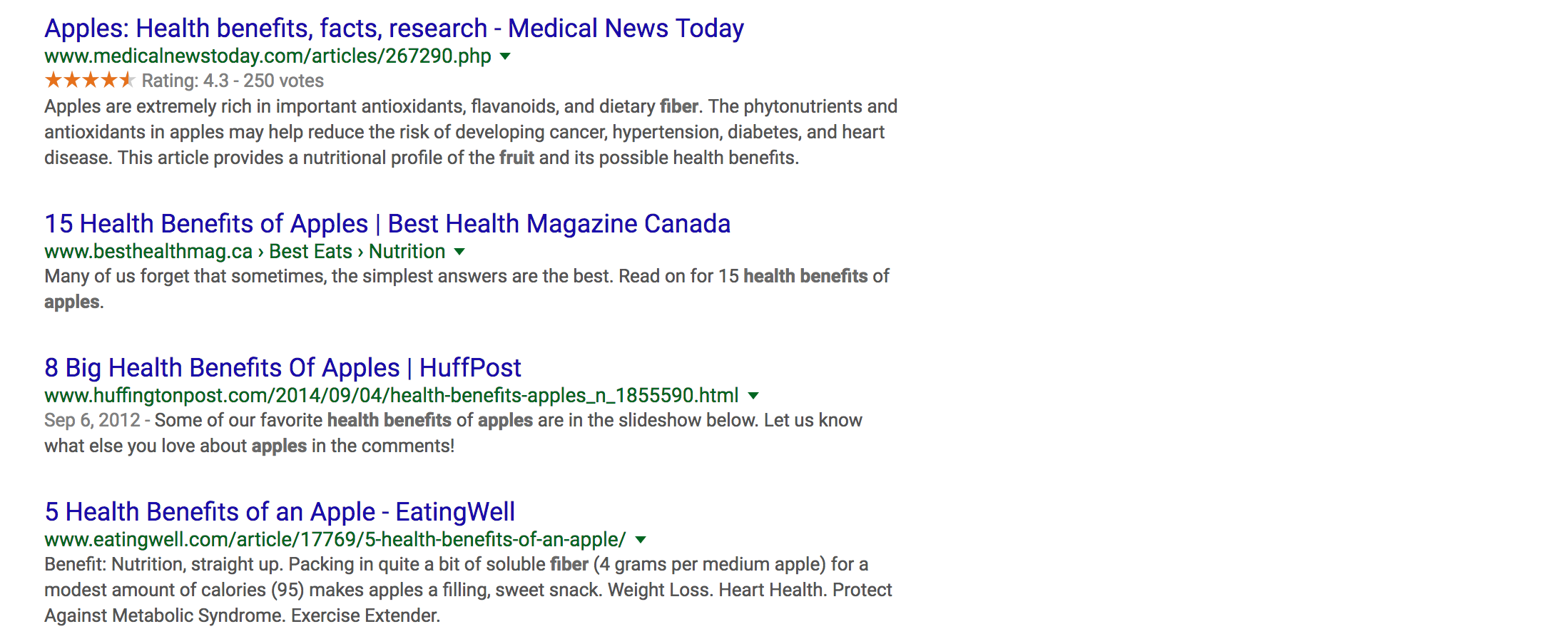 """apple health benefits"" lsi keywords"