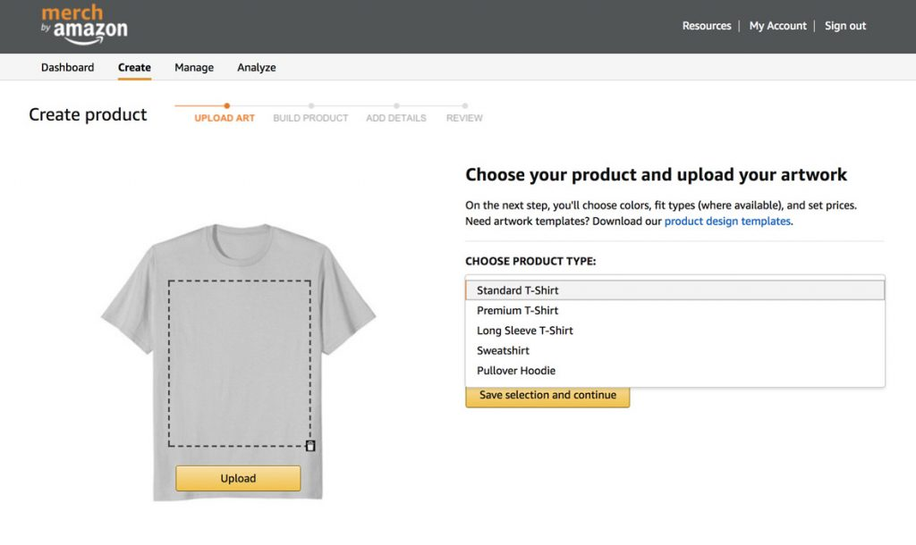 How to upload your design to Merch by Amazon?
