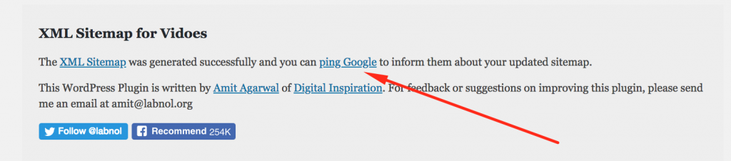 Ping google about your blog post
